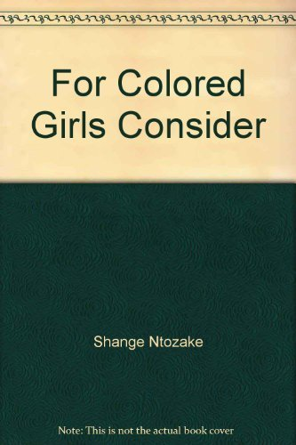 9780553229554: For Colored Girls Who Have Considered Suicide When the Rainbow Is Enuf