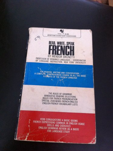 9780553231632: Read Write Speak French