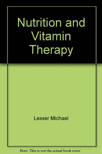 9780553240856: Nutrition and Vitamin Therapy