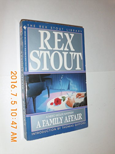 9780553241228: A Family Affair (The Rex Stout Library)