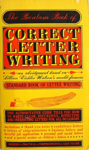 9780553241457: The Bantam Book of Correct Letter Writing