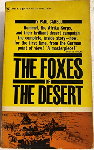 9780553265910: Foxes of the Desert