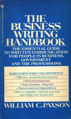 9780553270419: Business Writing Handbook: The Essential Guide to Written Communication for People in Business, Government, and the Professions