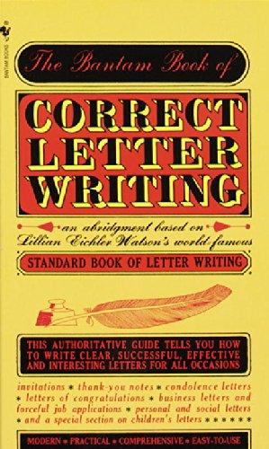 9780553270860: Bantam Book of Correct Letter Writing