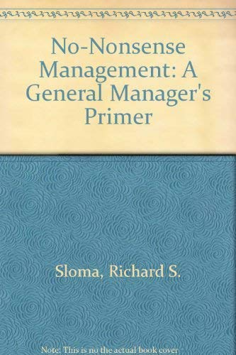 9780553274264: No-Nonsense Management