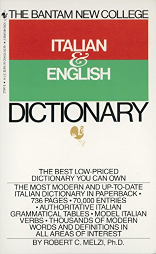 9780553279474: The Bantam New College Italian & English Dictionary
