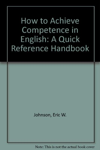 9780553292749: How to Achieve Competence in English