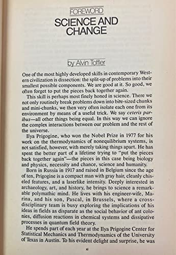 9780553340822: Order out of chaos: Man's new dialogue with nature