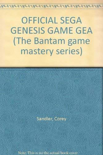 9780553354843: Official Sega Genesis & Game Gear
