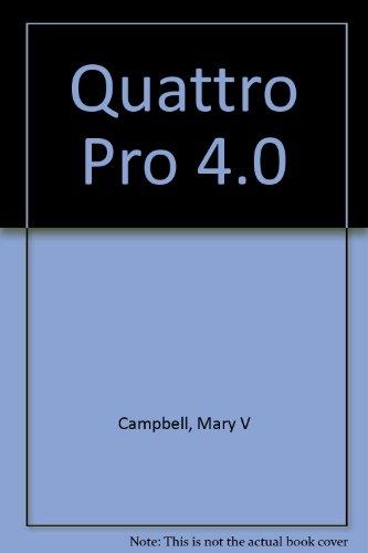 9780553370416: Quattro Pro 4.0