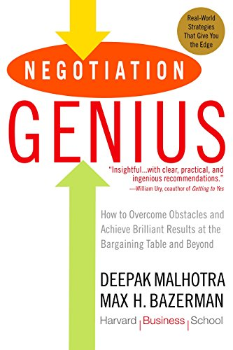 9780553384116: Negotiation Genius: How to Overcome Obstacles and Achieve Brilliant Results at the Bargaining Table and Beyond