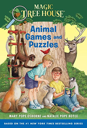 9780553508406: Magic Tree House: Animal Games and Puzzles (Stepping Stone Book(tm))