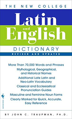 9780553590128: The Bantam New College Latin & English Dictionary