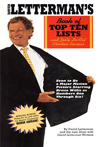9780553763577: David Letterman's Book of Top Ten Lists: and Zesty Lo-Cal Chicken Recipes