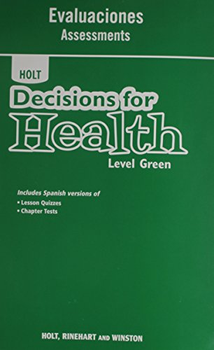 9780554000060: Decisions for Health, Spanish: Assessments Level Green