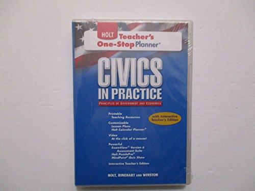 9780554001197: Holt Civics in practice Teacher's One-Stop Planner