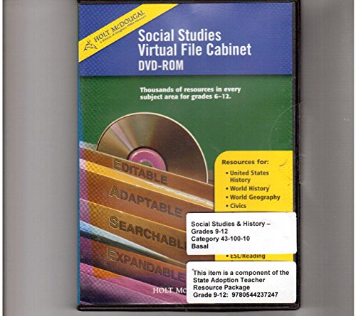 9780554010601: Social Studies Virtual File Cabinet (Holt McDougal Social Studies)