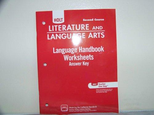 Language Handbook Worksheet Answer Key Grade 8 worksheets – Language Handbook Worksheets Answer Key Online