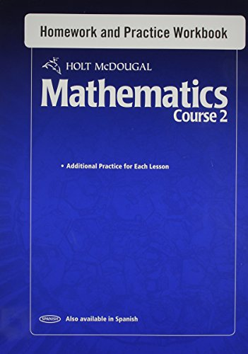 9780554014029: Holt McDougal Mathematics: Homework and Practice Workbook Course 2
