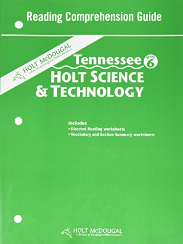 9780554017778: Holt Science and Technology Tennessee: Reading Comprehension Guide Grade 6