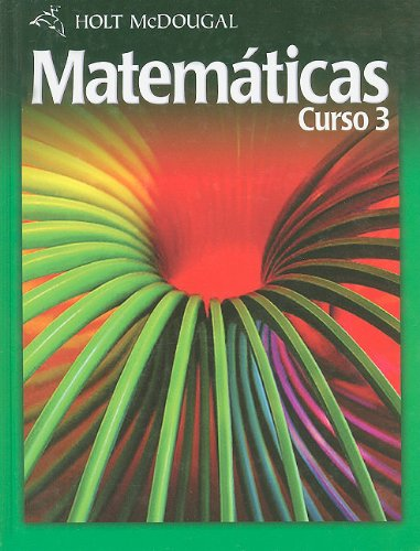 9780554018218: Holt McDougal Matematicas, Curso 3