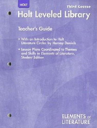 9780554023458: Holt Elements of Literature: Leveled Library with Teacher's Guide