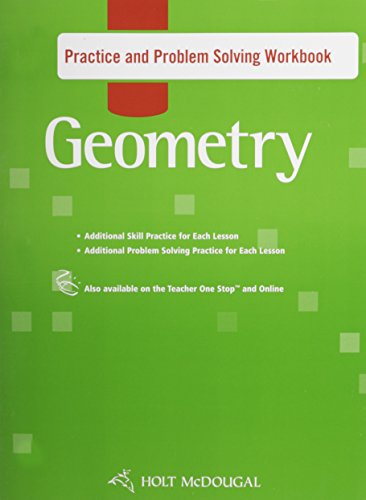 9780554024165: Holt McDougal Geometry: Practice and Problem Solving Workbook