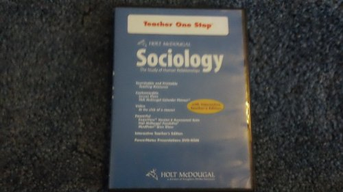 9780554028569: Holt McDougal Sociology: The Study of Human Relationships: Teacher One-Stop DVD-ROM