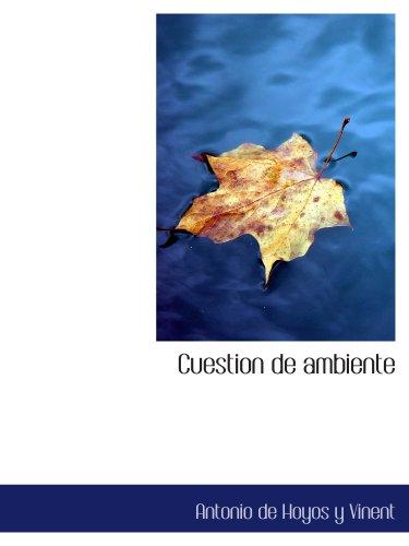 9780554147963: Cuestion de ambiente