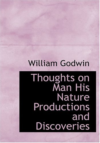 9780554218441: Thoughts on Man His Nature Productions and Discoveries (Large Print Edition)