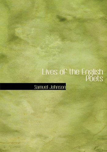 9780554219103: Lives of the English Poets