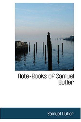 9780554313351: Note-Books of Samuel Butler
