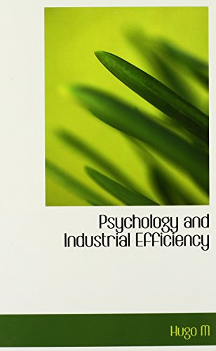 9780554345208: Psychology and Industrial Efficiency