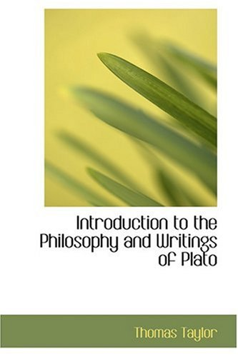 9780554351919: Introduction to the Philosophy and Writings of Plato