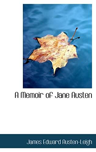 9780554365879: A Memoir of Jane Austen