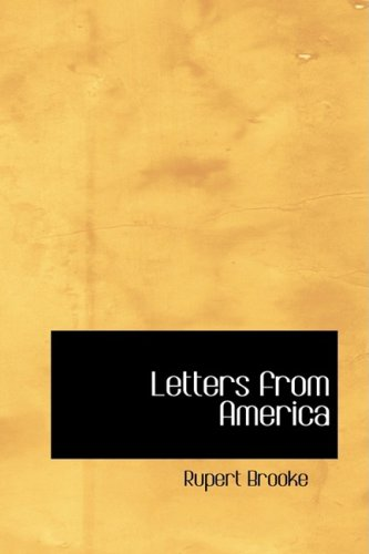 Letters from America (0554381869) by Rupert Brooke