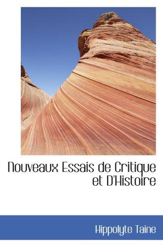 9780554430805: Nouveaux Essais de Critique et D'Histoire