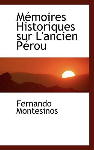 9780554448053: Memoires Historiques Sur L'ancien Perou