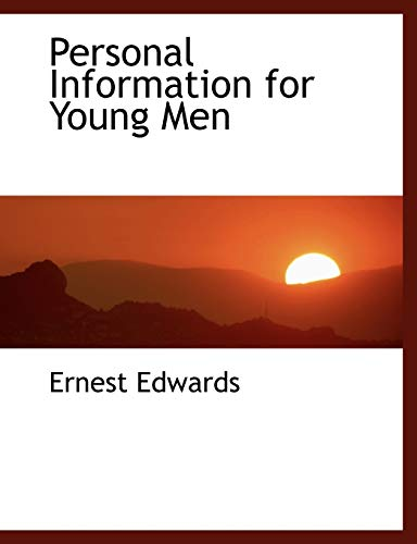 9780554449616: Personal Information for Young Men (Large Print Edition)