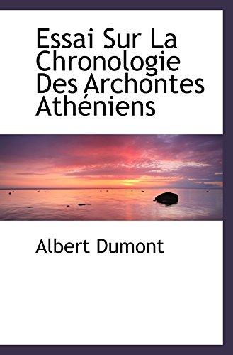 9780554481197: Essai Sur La Chronologie Des Archontes Athéniens