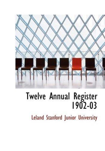 9780554627038: Twelve Annual Register 1902-03 (Large Print Edition)