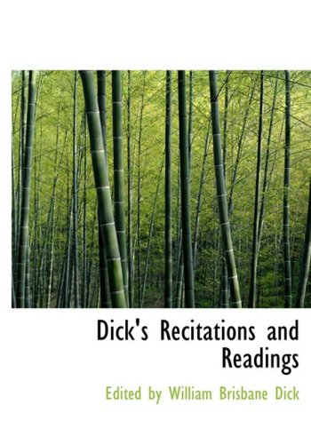 9780554676333: Dick's Recitations and Readings (Large Print Edition)