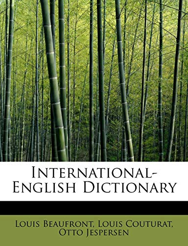 International-English Dictionary (Paperback): Louis Couturat Otto