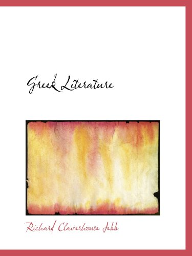 9780554730851: Greek Literature