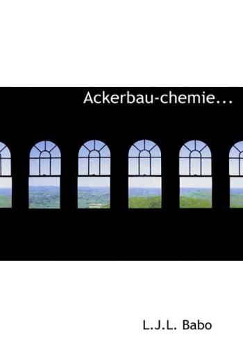 9780554748443: Ackerbau-chemie... (Large Print Edition) (German Edition)