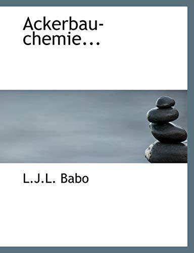 9780554748450: Ackerbau-chemie... (Large Print Edition) (German Edition)