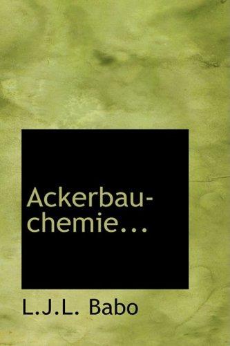 9780554748528: Ackerbau-chemie... (German Edition)