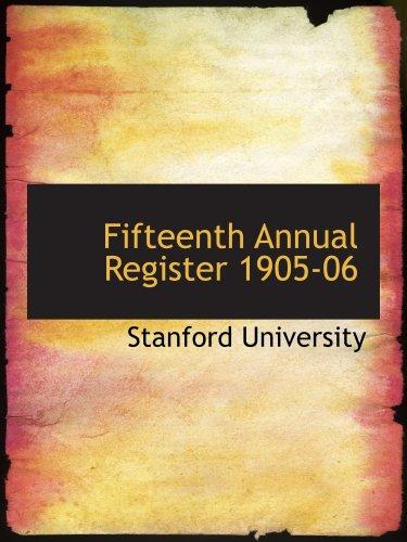 9780554797298: Fifteenth Annual Register 1905-06