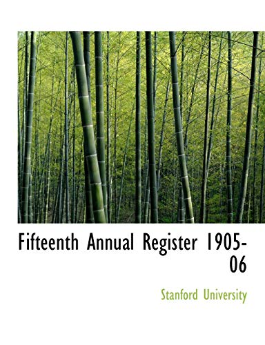 9780554797342: Fifteenth Annual Register 1905-06 (Large Print Edition)