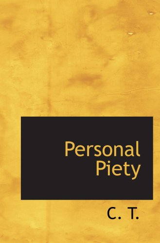 9780554805429: Personal Piety